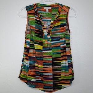 DANA BUCHMAN Multi-Colored Sleeveless Top, size S